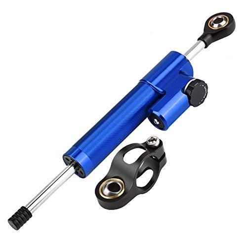 Ammortizzatore di sterzo- Strumento stabilizzatore ammortizzatore sterzo in lega di alluminio del motociclo (Colore : Blue+Black)