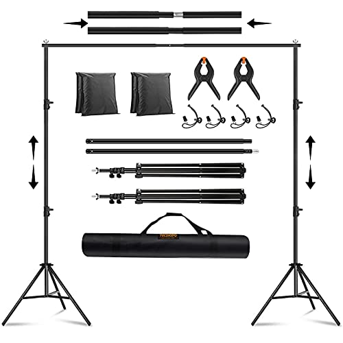 3 m x 2 m telescopico per studio fotografico, supporto per sfondo regolabile, kit di supporto per sfondo con borsa per il trasporto