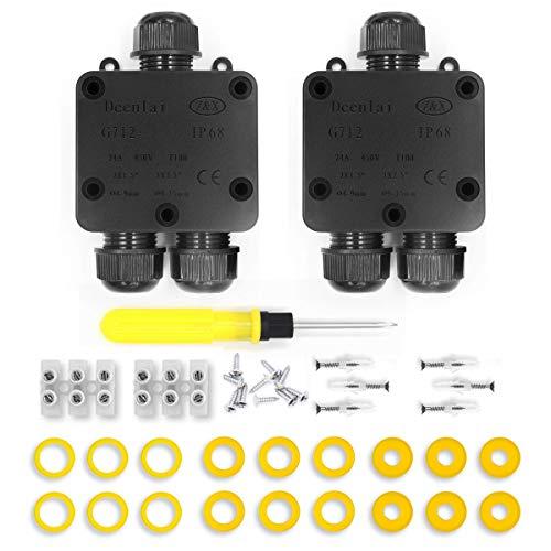 Scatole di derivazione,IP68 Scatole Impermeabili Esterno Scatole per Collegamenti per 4-14 mm Diametro Cavo,Scatola di Giunzione Esterno Connettore Ca
