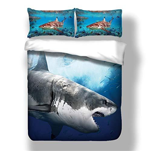 Stillshine Oceano Misterioso Ropa de Cama Niño 90 Tiburón Animal Pec