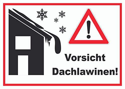 HB-Druck Vorsicht Dachlawine Achtung Schild A4 (210x297mm)