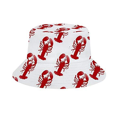 Nicht rote Hummer-Socken mit Sich wiederholendem Muster, Unisex, Sommerhut, Damen, Herren, Fischerhut, lässige Kappe, Reise, Strand, Sonnenhut, Outdoor-Kappe