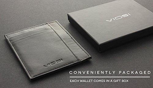 VIOSI Minimalist Wallets for Men - RFID Blocking Front Pocket Card Holder