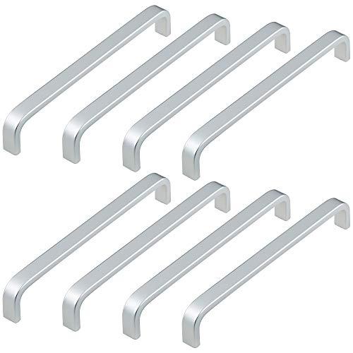 Ruiao Manijas de armario de acero inoxidable gruesas, tiradores de cajón con tornillos para muebles de cocina y dormitorio (15, centros de agujeros: 160 mm)