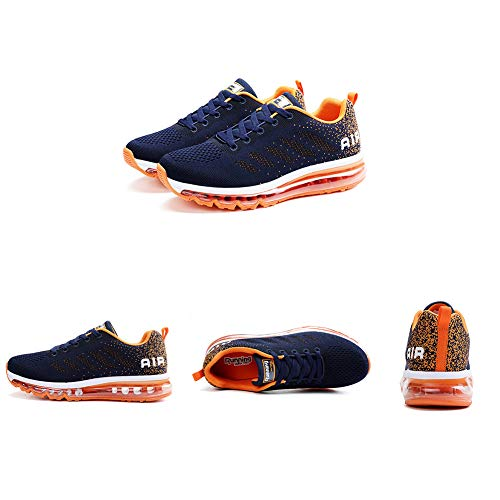 Zapatillas de Deporte Hombre Mujer Running Bambas Ligero Zapatos para Correr Respirable Calzado Deportivo Andar Crossfit Sneakers Gimnasio Moda Casuales Fitness Outdoor Blueorange 41