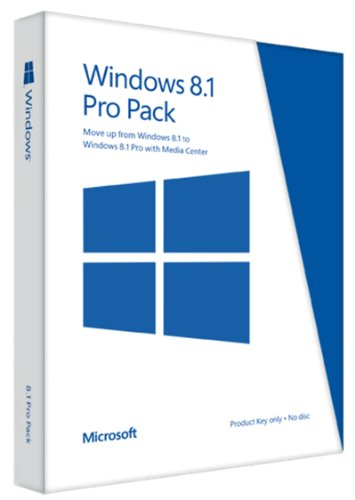 Windows 8.1 Pro Pack 32/64 Bit - Upgrade von Windows 8.1 auf Windows 8.1 Pro (Product Key Card ohne Datenträger)