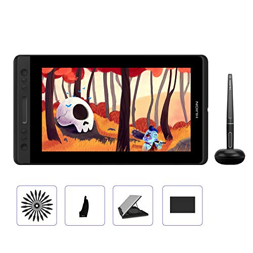 HUION Kamvas Pro 13 GT-133 Drawing Tablet with Full Laminated Screen 13.3inch Pen Display Battery-Free Graphics Monitor Tablet with 8192 Pressure Sensitivity Tilt Function Touch Bar, Stand Included