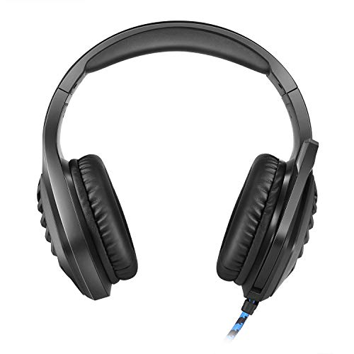 Cosmic Byte GS430 Gaming Headphone, 7 Color RGB LED and Microphone for PC, PS5, Xbox, Mobiles, Tablets, Laptops (Black)