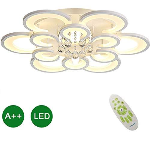 Woonkamer LED Plafondlamp Dimbaar Verlichtingsarmaturen Plafond Inbouw Met Afstandsbediening Plafondverlichting Modern Chic Bloemvorm Ontwerp Voor Slaapkamer Binnen Plafondlamp Wit