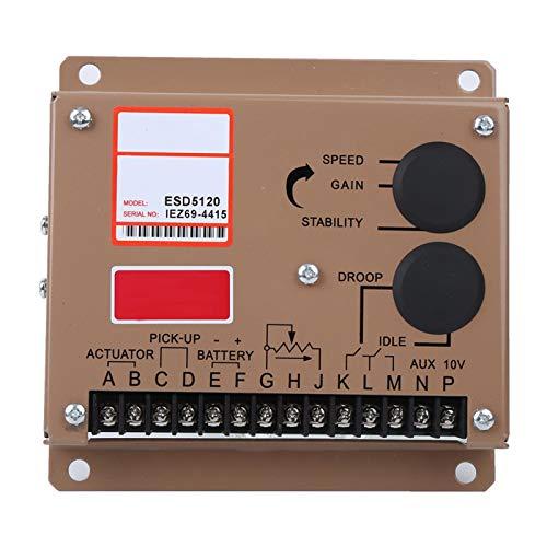 Agatige Controlador electrónico de Velocidad del Motor ESD5120, regulador de Velocidad CC/gobernador, Equipo de bajo Voltaje, Accesorios para generadores diésel