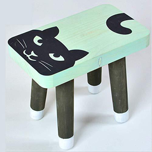 WEHOLY Taburete Funcional Cute Baby Children 's Small Bench Taburete de Madera Maciza Silla Plegable para el hogar Creative Low Stool Shoes Bench (Color: Fox)