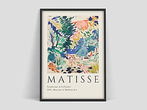 Henri Matisse Kunstausstellungsplakat, Matisse Kunstdruck, Matisse die Ausschnitte, Matisse Plakat, Matisse Kunstplakat, Henri Matiser Familie Rahmenlose dekorative Malerei A92 30x40cm