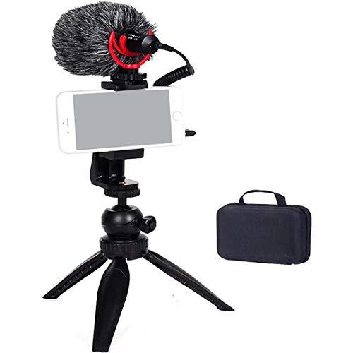 Vitopal Universal Video Microphone Kit for Smartphones, DSLR Camera, Vlogging, Recording Music, Live Streaming (VM-i2=VM-i1+Tripod Kit)