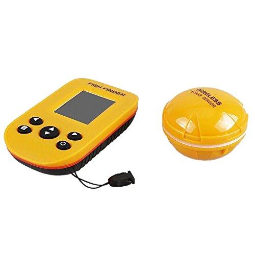 Inalámbrico portátil pescado profundidad Finder con Sonar Sensor transductor