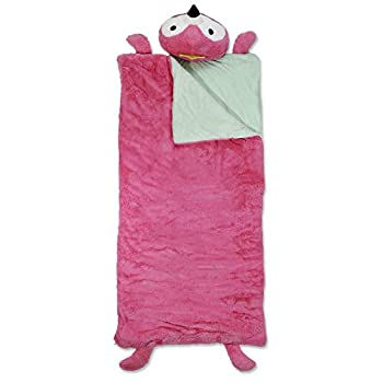 Heritage Kids Flamingo Plush Sleeping Bag with Built in Character Pillow 54  L x 28  W Pink