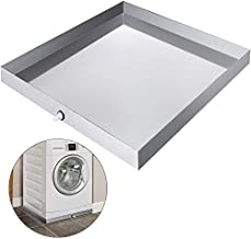 VEVOR 32 x 30 Inch Washing Machine Drip Pan 304 Stainless Steel Heavy Duty Compact Washer Machine Drip Pan With Hole