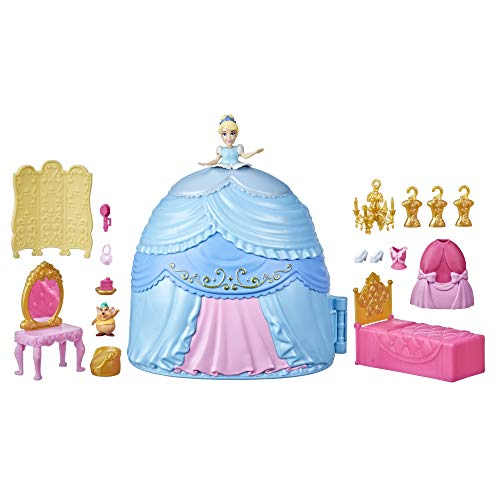 Disney Princess Secret Styles Cinderella Story Skirt, Playset with Doll,...
