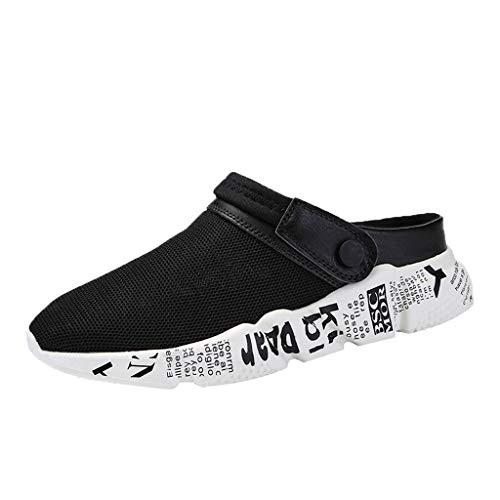 Fannyfuny_Zapatos Hombres Zuecos Hombre Zuecos para Unisexo Zapatillas de Trabajo Zapatos Mujeres Sandalias Verano Zapatillas Respirable Malla de Playa Antideslizante Deportes Zapatos