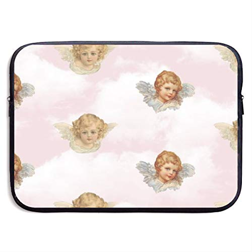 Gao808yuniqi Cute Little Angel Laptop Sleeve Shoulder Bag for Women, Protective Carrying Case Compatible with 13-15 Inch MacBook Pro, Air, Notebook,Slim Sleeve
