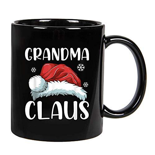 Grandma Claus Santa Hat Christmas Matching Family Ceramic Coffee Mug, Cup 11oz, 15oz (15oz)