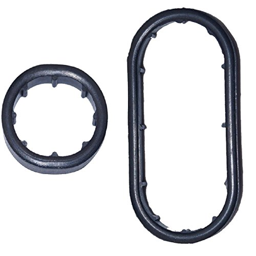 Bapmic Lower 1121840261 Engine Oil Cooler Gasket + 1121840361 Upper Gasket for Mercedes M112 M113