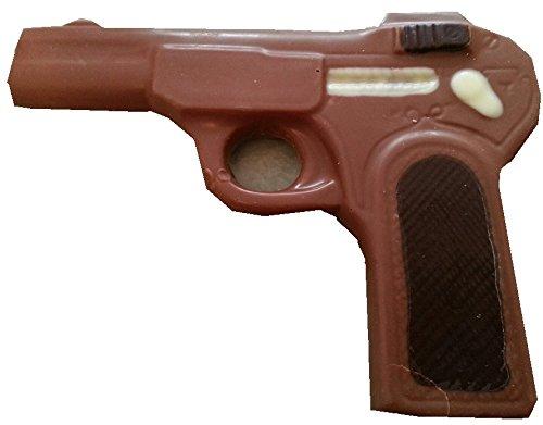 06#060821 Schokoladen Pistole, Vollmilch, Schütze, Waffe, Krimidinner, Geburtstag, Geschenke, Dinner Krimi, schiessen,