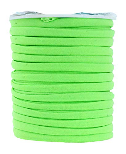 Mandala Crafts Soft Elastic Cord from Spandex Nylon Fabric for Jewelry Making, Sewing, and Crafting (Lime Green)