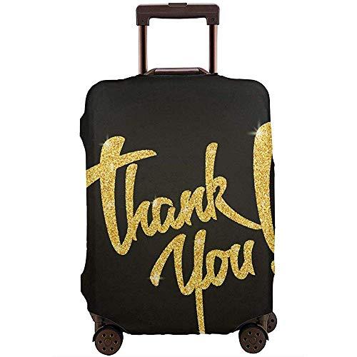 Funda de Equipaje de Viaje Frase de Agradecimiento Letras de Agradecimiento con Signo de exclamación Protector de Maleta Talla L
