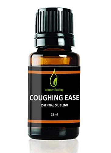 Coughing Ease - 100% Natural Essential Oil Blend. Relief for Cough & Cold, Wheezing, RSV, by Wonder Healing (15 ml)