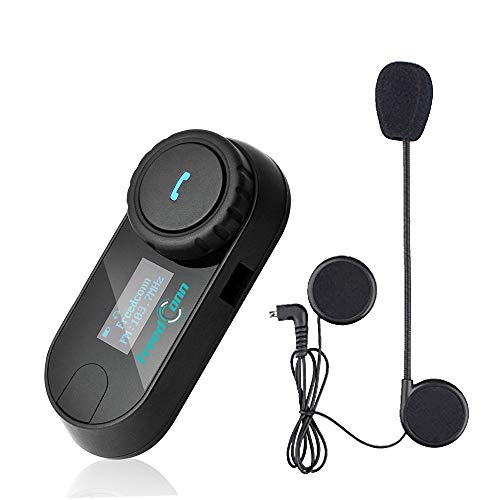 Motorcycle Intercom Helmet Bluetooth Headset Motorbike Communication Systems, Up to 800M Intercom Distance, Support 2-3 people connection, Suit for Riding/ Skiing