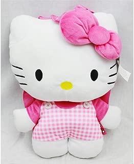 Plush Backpack - Hello Kitty - Pink Checker Pattern
