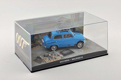 Modelcar DieCast 1/43 Diorama ZAZ 965 A blu James Bond 007 Goldeneye