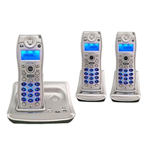SHKUU TeléFono con BotóN Pulsador La Vendimia TeléFono InaláMbrico Universal Universal TeléFono InaláMbrico para El Hogar Expandible TeléFono Fijo Fijo Bienvenido (Color: C)