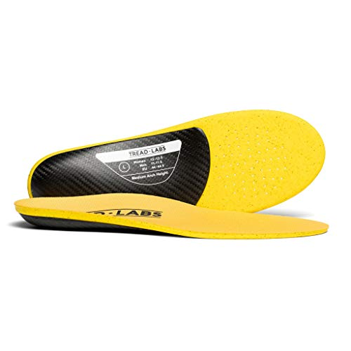 Dash Performance Insoles For Men And Women – Carbon Fiber Orthotic Arch Supports Available In 4 Arch Heights For Flat Feet to High Arches - For Soccer Boots, Cycling Shoes And Running Shoes