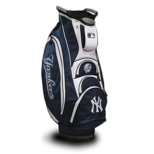For Sale! Team Golf MLB New York Yankees Victory Golf Cart Bag, 10-way Top with Integrated Dual Hand...