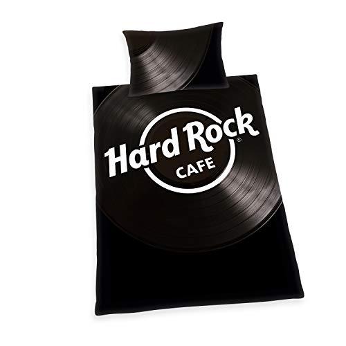 Bettwäsche-Set Hard Rock, Kopfkissenbezug ca. 65x100cm, Bettbezug ca. 160x210cm, 100% Baumwolle, Renforcé, mit leichtläufigem Reißverschluss, mit Flag Label