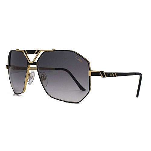 Cazal 9058 Aviator Sonnenbrille in Schwarz-Gold 9058 001 63 63 Gradient Grey