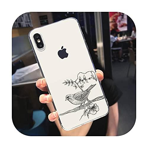 Lindo pájaro teléfono caso caso para el teléfono móvil para Iphone Se 5 6 S 7 8 Plus Xr X Xs Max 11 12 Pro Max-a2-para iphone se 2020