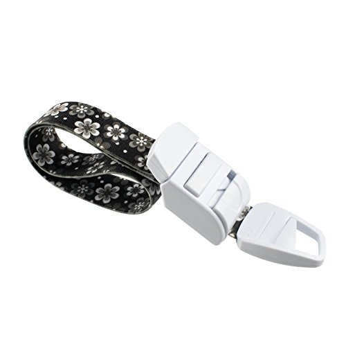 ROLSELEY Medical Tourniquet with Floral Black Pattern with ABS Plastic Buckle Latex Free Elastic Band Perfect for Doctors, Nurses, Students and Paramedics