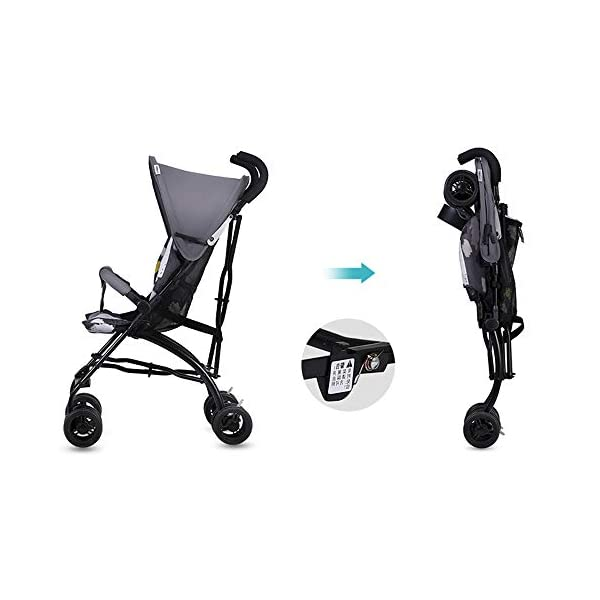 Makeups One-Handed Folding Stroller Height-Adjustable Stroller 0+ Group Is Suitable for Crib Up To 15 Kg with Umbrella Colour: Black Makeups The 3-in-1 car is suitable for the birth of a baby. 3-piece car-a car seat from a month to 15 kg, a large crib and a stroller that can be used for a long time. Easy to fold: A case that can be easily and quickly folded with only one hand. The size is reduced, which is ideal for travel and trunk space. With a compact chassis, easy to fold, can carry a crib, can be used from birth, and includes group 0. This is the ideal stroller for your baby. 6