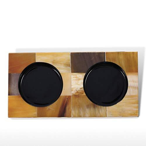 Glazen houder en onderzetter Set Piano Bakken Vernis Technologie Badkamer Tumbler Houder met Glas Decoratieve Beker Houder