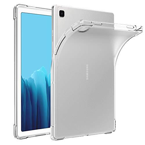 """MoKo Smart Cover Compatibile con Samsung Galaxy Tab A7 10.4"""" 2020 (SM-T500/505/507), Custodia di TPU Morbido con Retro Semi-Trasparente di Gomma Compatibile con Galaxy Tab A7 10.4 2020, Transparente"""