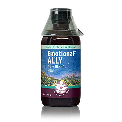 WishGarden Herbs Emotional Ally - Liquid Herbal Supplement Tincture for Anxiety and Stress, Fast Acting Natural Mood Enhancer and Stabilizer, Supports Good Mood, 4 Ounce