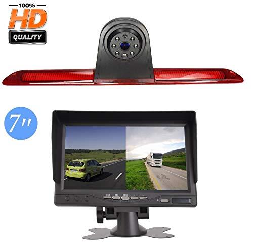 "Rückfahrkamera Transporter Kamera an 3. Bremsleuchte Dachkante Einparkhilfe (NTSC) für Transporter MB Mercedes Sprinter W906 VW Crafter +7.0\"" Zoll DVD Monitor TFT Bildschirm LKW KFZ LCD Display"