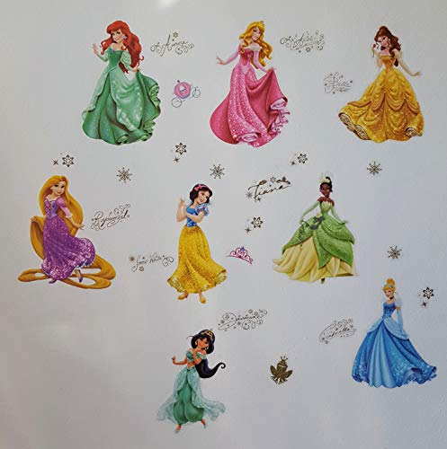 Kibi Princesas Disney Pegatinas De Pared Disney Stickers Infantiles Pared Princesas Casa De Pared Etiquetas De La Pared Niños Dormitorio Bebe, Artes Decorativas Wall Stickers 30 (W) x 90 (H) CM (B)