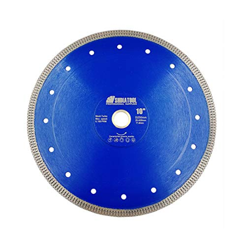 SHDIATOOL 10 Inch Diamond Saw Blade Cutting Porcelain Tile Ceramic Granite Marble Brick