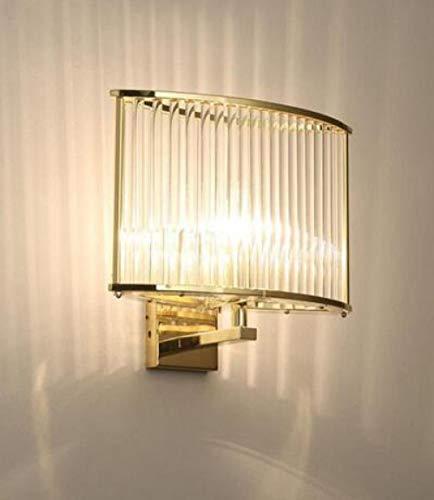 Luxe wandlamp van kristalglas in landelijke stijl voor woonkamer met LED-lampen