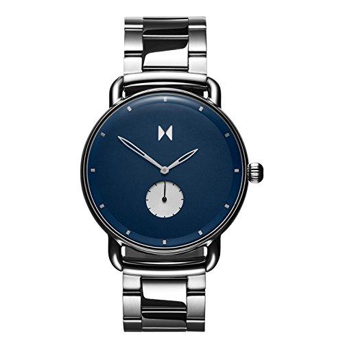 MVMT Reloj Cronógrafo para Hombre de Cuarzo con Correa en Acero Inoxidable D-MR01-BLUS