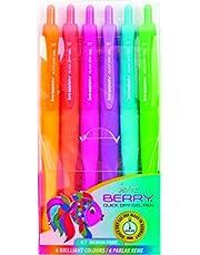 Serve Sv-Brgel07B6Krb Berry Hizli Kuruyan Jel Kalem, Çok Renkli