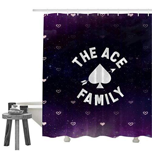 AC-E Duschvorhang, Polyester, bedruckt, wasserdicht, weiß, 72 X 72 Inch